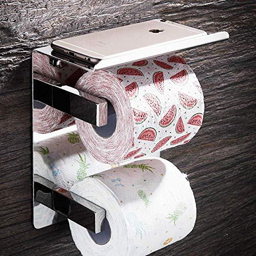 Portarrollos de Papel higiénico a Prueba de Humedad Portarrollos de Papel higiénico montado en la Pared Estante de una Toalla Estante de Hierro Forjado Estante de baño Estante sin Perforaciones Puer
