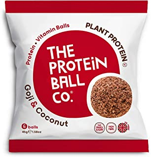 The Protein Ball Co. Plant Protein and Vitamin Goji and Coconut Protein Balls, 45 g