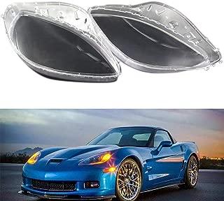 Facaimo Headlight Replacement Lens Pair Set for 2005-2013 C6 Chevrolet Corvette