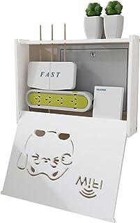 MNBVH Router Rack, Estantes de Pared Router Cajas Almacenamiento Soportes TV Pared, Cables Zócalo Blindaje Caja, Ocultar T...