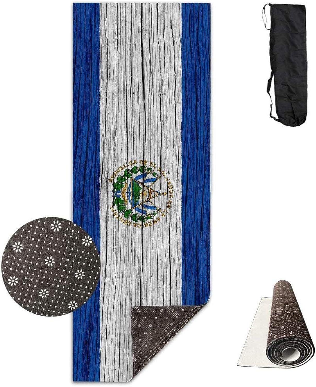 Salvador Wooden Texture Salvadoran Flag ECO Aqua Power Kinematic Iyengar Kundini Hot Pilates Gymnastics Hatha Yoga Mat Exercise Mat