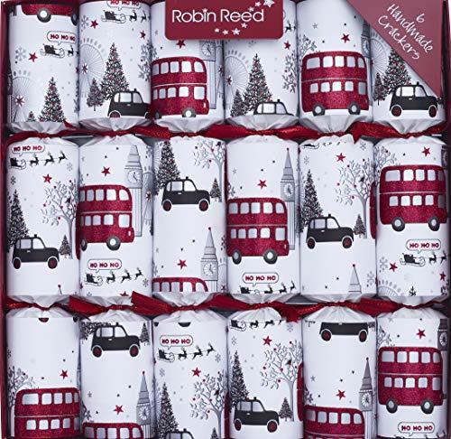 R&R 6 x 12 (inch) Handmade English Christmas Table Decorations - London at Christmas