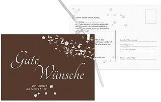 Ballonkarte romantic flower, 60 Karten, braunmatsch B07CQRDYRC  Jugend