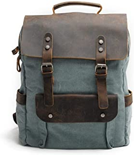 Canvas Camping Large Capacity Fashion Backpack Outdoor Travel Day Bag Travel Backpack (Color : Blue, Size : 30cm*11cm*38cm)