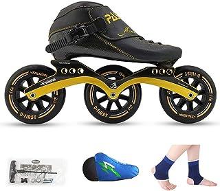QSs-Ⓡ Patines DE Ruedas, Patines DE Velocidad, Zapatos DE Correr, Patines DE Hielo Profesionales para NIÑOS, Patines DE Hielo EN LÍNEA para Hombres Y Mujeres
