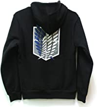 Goqun Attack on Titan Jacket Zip Hoodie Sweater Unisex Cosplay Costume for Boys Adults