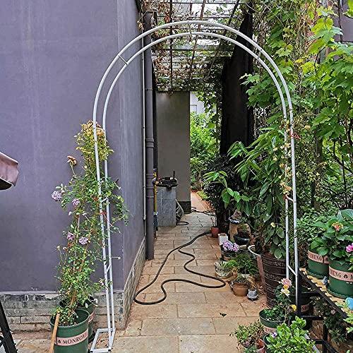 JWW Arco De Jardín Arco Decorativo para Rosas 120x220cm 140x230cm 180x220cm 200x230cm 240x200cm Decoracion Arco De Metal para Plantas Trepadoras