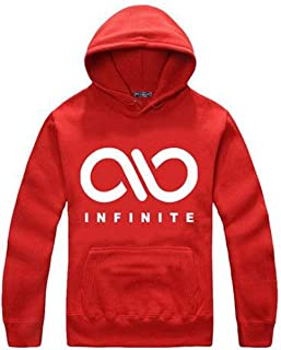 Fanstown Kpop Infinite Hoodie Sweatshirt Fanmade Super Support+2 Pieces Infinite Silicon Wrist Band
