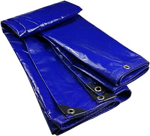 LQQGXL Bache rembourrée imperméable à l'eau imperméable à l'eau logistique Camion batiment Anti-poussière bache Anti-Vent, Bleu Bache imperméable à l'eau