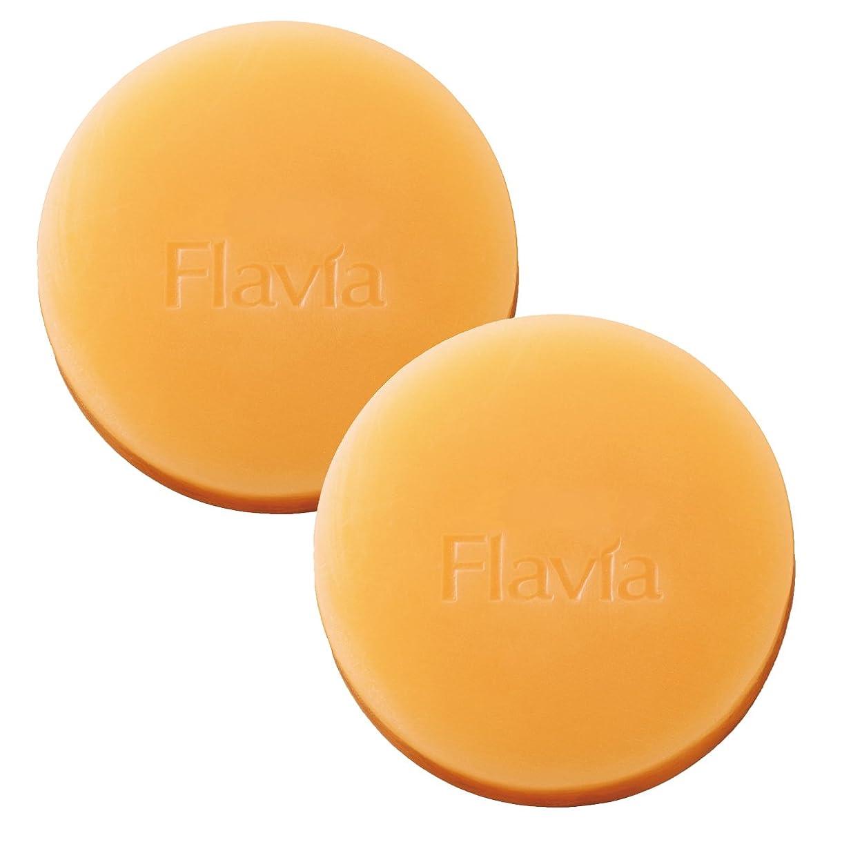 敬意を表してインチ治療フォーマルクライン 薬用 フラビア ソープ 夜用 2個セット 洗顔 石けん