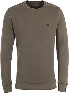 True Religion Small Metal Logo Crew Neck Khaki Sweatshirt
