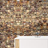 Papel Pintado Wallpaper Autoadhesiva Papel pintado irregular de piedra inconsútil de la pared Material del papel pintado del PVC conveniente for el dormitorio del fondo del sofá TV de la sala de estar