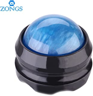 Manual Massage Ball Pain Relief Back Roller Massager Self Massage Therapy and Relax Full Body Tools for Sore Muscle Joint Pain Essential Oils or Lotion Relax (Blue)