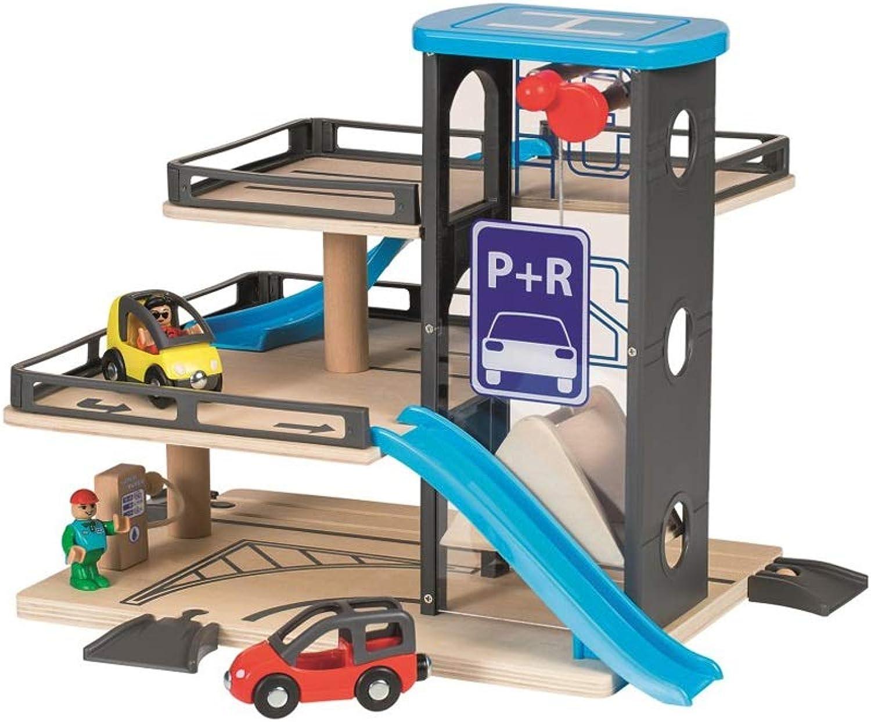 nuevo sádico HXGL-juguete HXGL-juguete HXGL-juguete de coche Tren Tren de Madera Estacionamiento de Juguetes FerroCocheril Coche Niño Regalo 3 años (Color   A)  en venta en línea