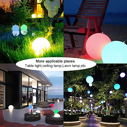 """Solar LED Lights Inflatable, 14"""" Floating Pool Lights Waterproof 4 Color Changing Hangable Ball Light for Pond Pool Beach Wedding, Patio Decorative Night Light, Event Party as Mood Lights-1PC"""
