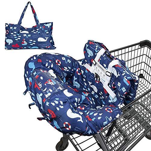 WGFW Protector plegable para carrito de la compra para bebés o niños pequeños, ajuste universal, lavable a máquina.