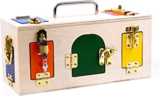 Montessori Educational Toys, Wooden Busy Sensory Board To Improve Basic Life Skills, Suitable for Children Aged 3-6