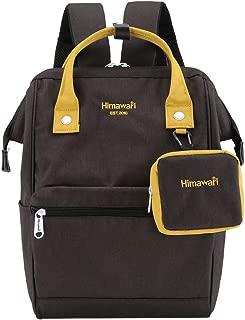 Himawari Travel Laptop Backpack for Men Women, Huge Capacity 15.6'' Computer Notebook Bag for School College Students(Black&Yellow)