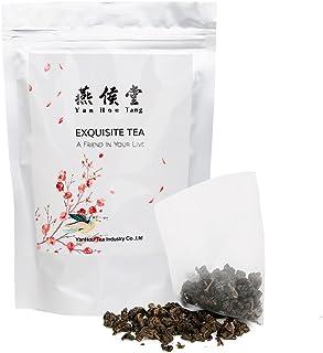 Yan Hou Tang Organic Taiwanese Pure Classic Oolong Tea bags Herb Grey Gunpodwer Full Loose Spice Leaf Made - 50 Counts Bul...