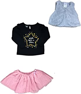 e029f081d89af Infant Toddler Girls Pink Tutu Gray Vest Wish Upon A Star Outfit 3 Piece  Outfit