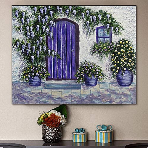 Ayjxtz Jigsaw puzzle 1000 piece Art abstract painting garden landscape art picture jigsaw puzzle 1000 piece adult Great Holiday Leisure,Family Interactive Games50x75cm(20x30inch)