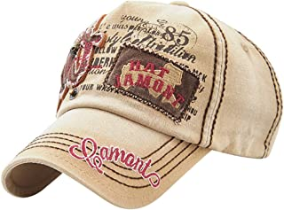 MINAKOLIFE 100% Cotton Distressed Vintage Trucker Baseball Cap Hat