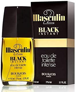 Masculin 2 Black Instant by Bourjois Unisex Perfume - Eau de Toilette, 112 ml