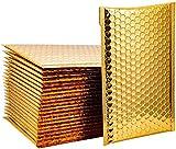 Buste Imbottite18x23cm Buste Gialle Imbottite Imballaggio Bolle Buste Sigillanti Pacco Spedizione Fogli A5 Buste Imbottite per Spedizioni Oro 25 pezzi