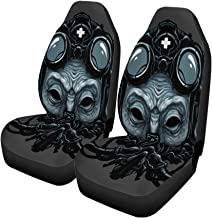 Semtomn Set of 2 Car Seat Covers Adjustable Steampunk Ant Head Digital Adult BDSM Belt Costume Universal Auto Front Seats Protector Fits for Car,SUV Sedan,Truck