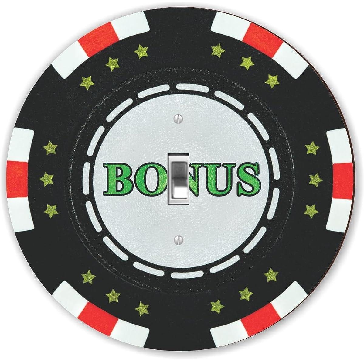 Rikki Knight RND-LSPS-102 Bonus Poker Chip Round - Single Toggle Light Switch Plate