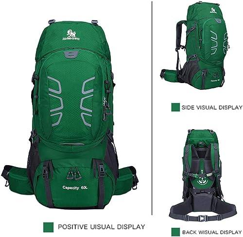 sac à dos 60L Voyage Multifonctionnelle Sac à Dos Adulte Sac d'alpinisme en Plein air pour Le Camping Chasse
