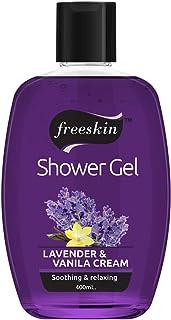 Freeskin Lavender & Vanila Cream Body Wash Shower Gel 400ml, for Skin Lightening and Acne Removal, Suitable for All Skin T...