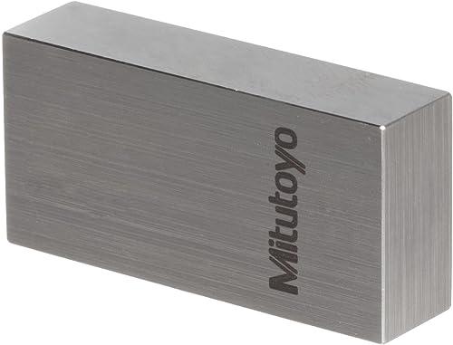 """Mitutoyo - 611201-541 Steel Rectangular Gage Block, ASME Grade AS-1, 1.0"""" Length"""