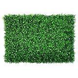 QIAOH Pannelli Artificiali del Bosso 20 Pezzi, Artificiale Siepe di Bosso Pannelli Mat Vegetali Faux Hedge Parete del Contesto UV Protected Outdoor Indoor Vegetazione Parete Pannelli Artificiale