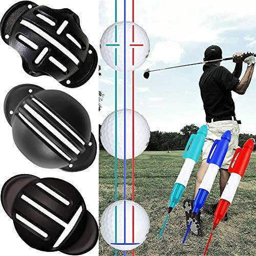 ゴルフ マーカー ボールラインマーカー 簡単に線が引ける 図形描画 テンプレートのリニアパット位置を決め ボールマークアライメントがクリップツール (A)