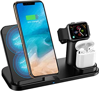 Qi 急速ワイヤレス充電器 Hoosoome ワイヤレスチャージャー 置くだけ充電 2019年モデル発売 iPhone/Apple Watch/Airpods充電器「iPhone X/XS/ XR/XS Max/ 8/8 Plus 最大7.5W急速充電対応」「Galaxy S9/S9 Plus/Note8/S8/S8 Plus/S7/S7 Edge/S6 Edge Plus 最大10W対応」 その他Qi対応機種も適用 (アダプター なし)