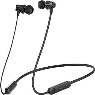 SoundPEATS(サウンドピーツ) SoundPEATS Bluetoothイヤホン ネックバンド型【8時間連続再生 / IPX5 / 密閉型/高音質 / メーカー1年保証 / 低音重視/マグネット搭載/マイク付き/ハンズフリー通話】 ワイヤレスイヤホン (black)