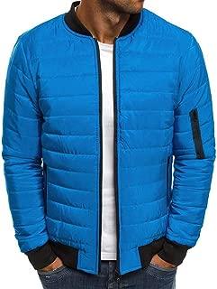 2019 Winter Down Jacket for Men Packable Lightweight Coat Zip Up Puffer Winter Tops Warm Outwear Overcoat Waistcoat 3XL