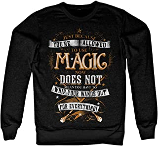 Harry Potter Officially Licensed Inked Magic Sweatshirt (Black)