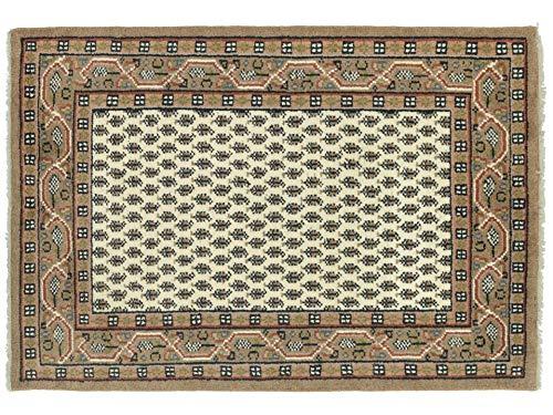 Indo Sarough Mir 120x180 cm Handgeknüpft Gelb Geometrisch Teppich 120x180