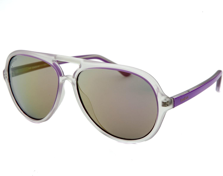 Bebe Sunglasses Women's Aviator Maya BB7131 purple