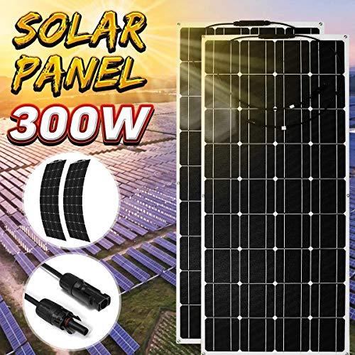 HMLIGHT Flexible Solar Panel 300W 150W 18V 12V 24V Ladegerät Monokristalline Solarzellen-Ladegerät für Auto-Boots-RV wasserdichte Startseite