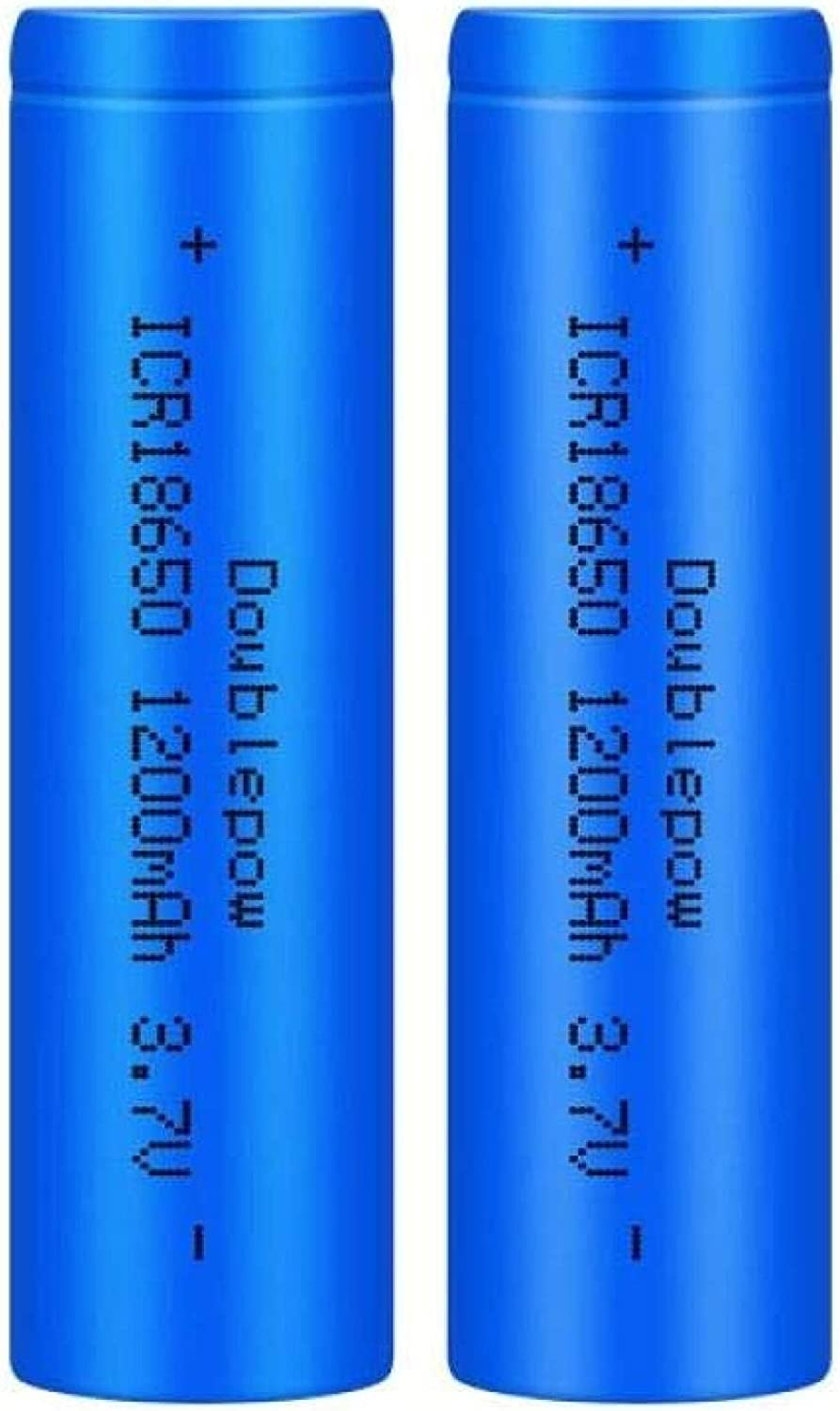 trust 3.7V 1200mAh 18650 Rechargeable Lithium Batteries- Battery Max 52% OFF