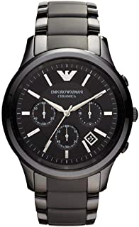 Emporio Armani Ceramica Men's Black Dial Ceramic Band Chronograph Watch - AR1452