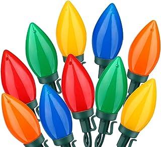 HAYATA C9 Bulbs Christmas Lights 25 LED 16ft Strawberry String Light - Fairy Lighting for Outdoor