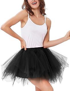 0fdab11808 Imixshop Women's Classic Layered Tutu Tulle Skirt Mini A-Line Party  Petticoat