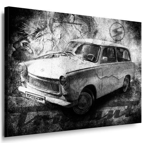 Trabant S/W Kunstdruck Kunstdruck Leinwandbild 100x70cm / Leinwandbild fertig auf Keilrahmen - Kunstdrucke, Nr.3564210 Leinwandbilder,Bilder, Poster, Gemälde, Pop Art Deko Kunst Bilder
