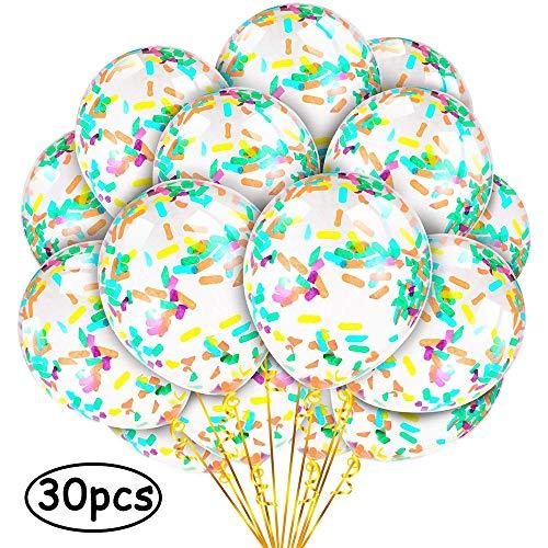HUOHUOHUO uftballons bunt,konfetti Luftballons Set,konfetti Luftballons durchsichtig,Ballons konfetti,Ballons bunt Kinder,konfetti Luftballons für Party Hochzeit Geburtstag