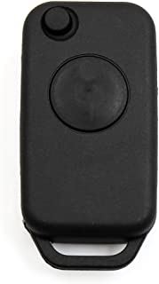 uxcell Flip Folding Uncut Key Fob Keyless Entry Remote Control Case Shell Replacement 267102334 for Benz 1pcs for Mercedes Benz Black a17111600ux0374