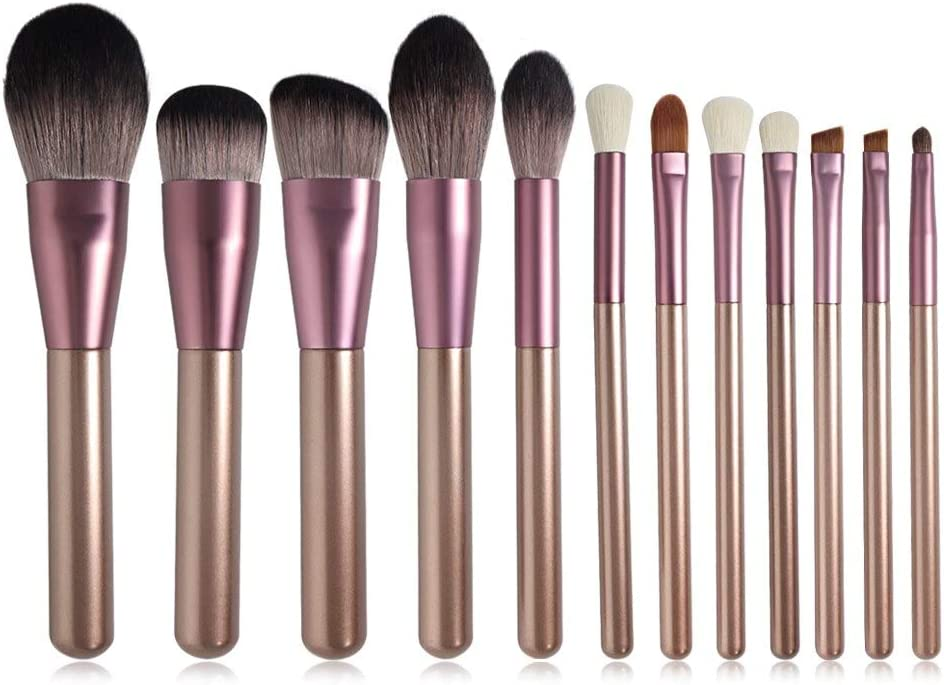 Max 63% OFF Make Up Brushes Light Purple Grape Direct stock discount Set Color 12Pcs Makeup Brushe